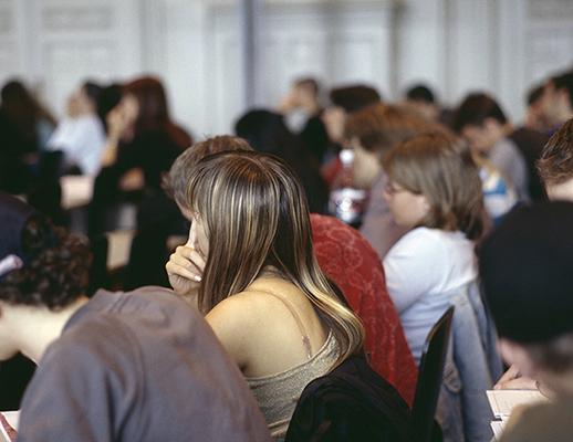 Hauptgebäude/Studium/Aula/Studenten in Hörsaal
